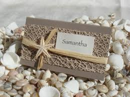 Wedding Invitation Card Diy Beach Wedding Diy Place Card Kit Urban Starfish Natural 25 Pcs