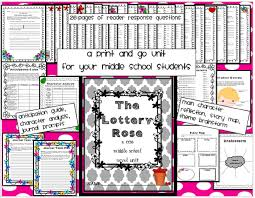 themes in the story the lottery this book and novel unit will change you as a teacher this 35