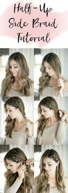 hair tutorial beauty half up side braid hair tutorial braid hair tutorials