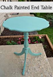 painting a table with chalk paint chalk painted end table amy latta creations