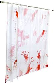 amazon com kangaroo u0027s bloody shower curtain halloween decoration