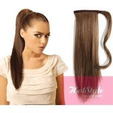 ponytail extension hotstyle clip in ponytail wrap braid hair