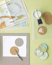 World Map Tablecloth by Map Coasters Martha Stewart