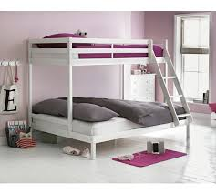 Buy HOME Kaycie Triple Bunk Bed With Elliott Mattress White At - White bunk beds uk