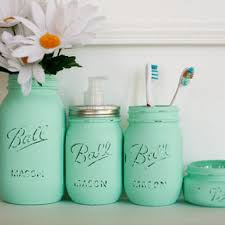 Mason Jar Soap Dispenser Set with from The Little Green Bir