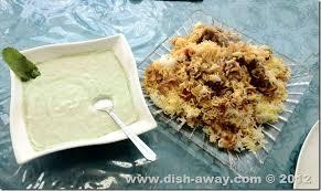 Biryani Decoration Biryani Recipe Dish Away