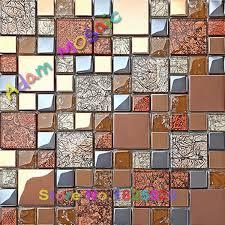Red Tile Backsplash - aliexpress com buy red tile backsplash kitchen glass mosaic