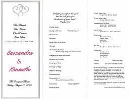 wedding ceremony programs template wedding ceremony program template 2014freerun5