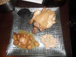 recette de cuisine de noel recette de repas du reveillon de noel coquelet farci au marron sauce