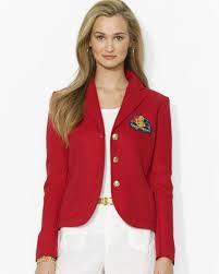 ralph lauren red lauren logo patch linen blazer casual jackets product 1 20259324 1 779140431 normal jpeg