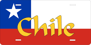 Texas Flag Chile Flag Chile Flag License Plate Photo Zone