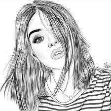 image result for easy black and white drawings black