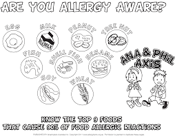 colouring in page are you allergy aware allergyaware com au