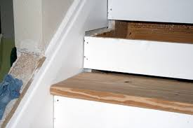 Laminate Flooring For Stairs Beautiful Budget Stair Remodel From Carpet To Wood Treads