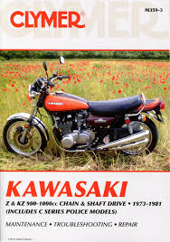 kawasaki z kz 900 1000 chain shaft drive 1973 1981 service manual