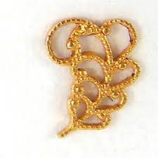 nickel free jewelry filigree filigree leaves gold plate 07757 b sue boutiques
