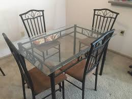 4 chair glass top dining table in overland park ks