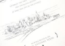 wedding invitations san antonio san antonio skyline wedding invitations