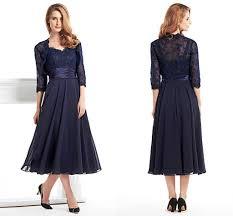 tea length dress ink blue tea length dresses for lace sleeve jecket