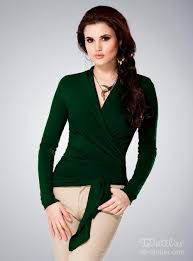 green womens blouse green wrap blouse wrap shirts tops for