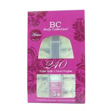 body collection false nails tips 240pk with glue ebay