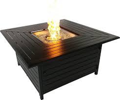 signaturerattan fire pits aluminum fire pit table u0026 reviews wayfair
