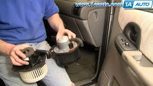 how to install replace heat a c fan or blower motor chevy venture