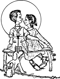norman rockwell coloring pages wecoloringpage