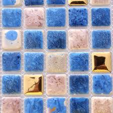 Kitchen Backsplash Stickers by Porcelain Tile Snowflake Style Mosaic Art Design