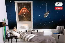 lightsabers r2 bb8 stars on a dark blue wall complete your