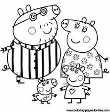 peppa pig family coloring kids printable