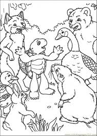 Franklin Tells A Story To His Friends Coloring Page Free Franklin Coloring Pages