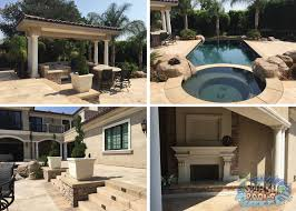 stunning swimming pool and backyard in upland splash pools u0026 const