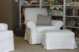 white slipcover chair inspiring armchair and ottoman slipcovers set at home security