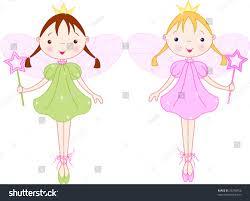 two cute fairies magic wand stock vector 33230956 shutterstock