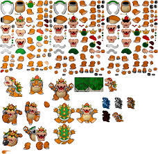 3ds paper mario sticker star bowser the spriters resource
