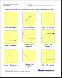 Angle Bisectors Worksheet Geometry Worksheets The Basic Geometry Worksheets In This Section