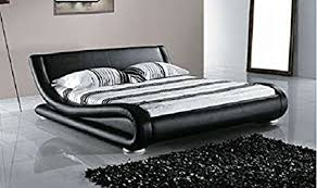 Black Platform Bed Greatime California King Contemporary Upholstered