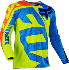 motocross gear online fox youth 180 nirv mx shirt kids motocross yellow blue fox pants