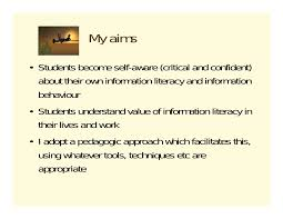 information literacy for masters students