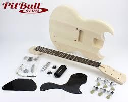 sg style guitar kits pit bull guitars