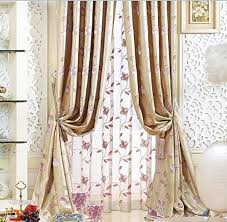 Blackout Curtains 72 Wide Iyuegou Traditional Jacquard Faux Silk Multi Floral Energy Saving