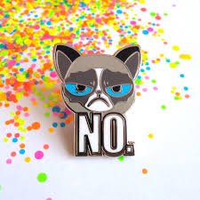 Angry Cat Meme No - enamel cat pin cat pin angry cat enamel pin animal pins