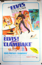 clambake original antique elvis presley movie theater poster