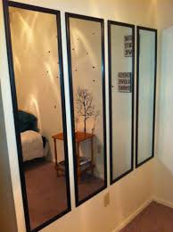 have an empty wall cover it will slim mirrors they are cheap and