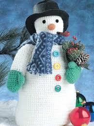 winter crochet patterns frosty snowman