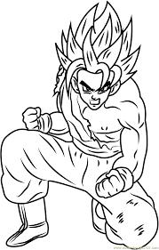 son goku dragon ball z coloring page free dragon ball z coloring