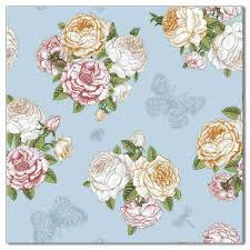 Roses And Butterflies - roses and butterflies floral ceramic wall tile