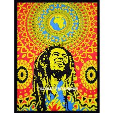 Bob Marley Home Decor Bob Marley Poster Hippie Rasta Poster Wall Hanging Tapestry