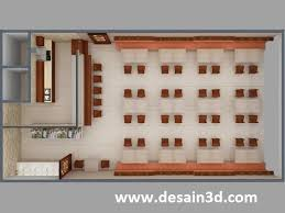 layout denah cafe seni desain interior exterior desain layout 3d restoran konsep